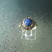 Sterling Silver/9kt Yellow Gold Lindy Star Sapphire/Multi Sapphire Ladies Ring