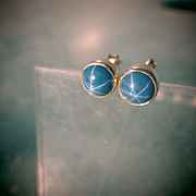9kt Yellow Gold Lindy Star Sapphire Stud Earrings