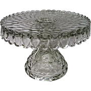 STUNNING Vintage  Fostoria American Pattern Footed Cake Stand