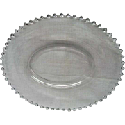 Imperial Vintage Elegant Depression Glass Candlewick Oval Platter