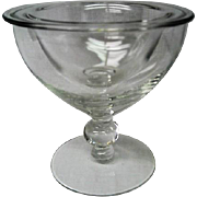 RARE Vintage Elegant Depression Glass Candlewick Seafood Cocktail Icer
