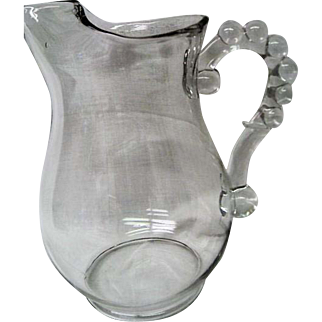 Vintage Imperial  Elegant Depression Glass Candlewick 80 ounce Water  Pitcher