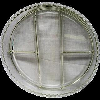 Vintage Elegant Depression Glass Candlewick HUGE 5 part Relish Dish