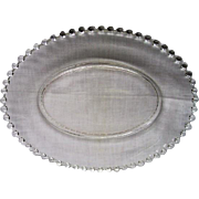 HUGE Vintage Elegant Depression Glass Candlewick Oval Platter