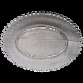 HUGE Vintage Elegant Depression Glass Candlewick Oval Platter