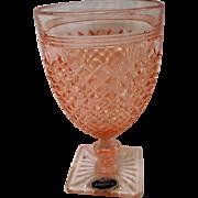 Vintage Pink Miss America Footed Water Goblet