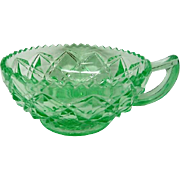 Green Little Jewel Depression Glass One Handled Jelly