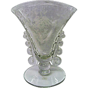 Heisey Orchid Glass Footed Fan Vase