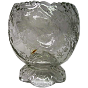 Short Footed Orchid Glass Heisey Vase