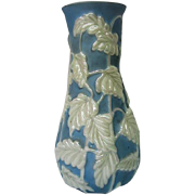 Phoenix Consolidated Leaf Decorated Tall Vase