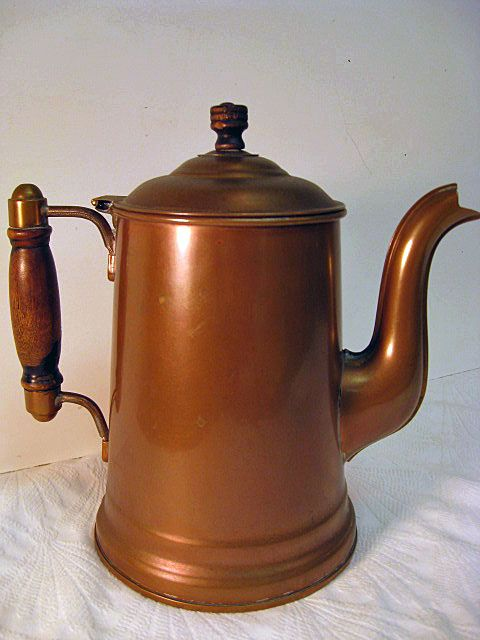 rochester copper large coffee pot lined sold on ruby lane