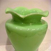 McKee Jade Ite Ruffled Edge Vase