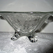 Fantastic Rose Point Footed Nut Bowl