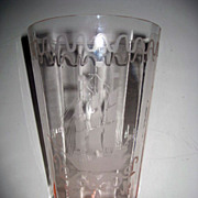 Pink Depression Glass Galleon  Masted Ship Vase