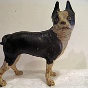Hubley Cast Iron Boston Bull Terrier Doorstop - Red Tag Sale Item
