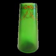 Hand Painted Loetz Iridized Vase