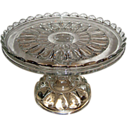 EAPG Early American Pattern Glass Jobes Tears Cake Stand