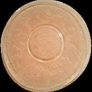 Pink Dogwood Depression Glass Salver Plate