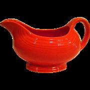 Vintage Fiesta Red Footed Gravy Boat or Sauce Boat Fiestaware