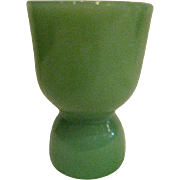 Fire King Vintage Double Jade Ite Egg Cup