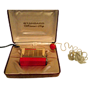 Fabulous Vintage Standard Micronic Ruby Transistor Radio with Ear Piece
