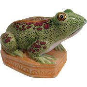 Fabulous Hand Painted Frog Ceramic Figurine