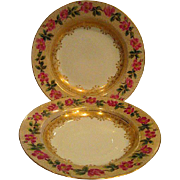 Two Hand  Painted Limoges Rim Bowls