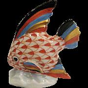 Handpainted Herend Fishnet Angel Fish Figurine