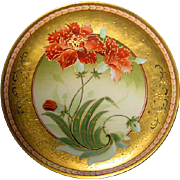 Hand Painted Pickard Limoges Poppy Decorated Plate