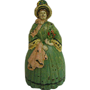Hubley RARE Cast Iron Woman Door Stop
