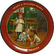 FANTASTIC Tin Litho Heath and Milligan Paints Tip Tray