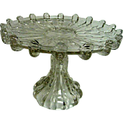 EAPG Early American Pattern Glass Broken Column Footed Cake Stand