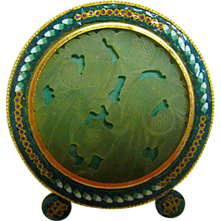 Italian Micro Mosaic Round Picture Frame