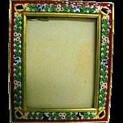 Italian Micro Mosaic Rectangular Picture Frame