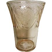 Pink Depression Glass Royal Lace Tumbler