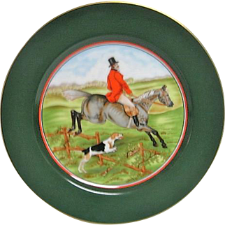 Fritz and Floyd English Hunt Scene Plate