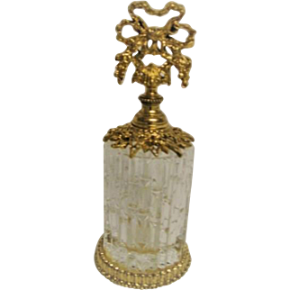 Italian Cracked Ice Crystal Perfume Bottle complete with Dauber