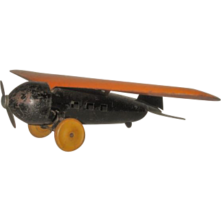 Vintage Large Steel Wyandotte Airplane