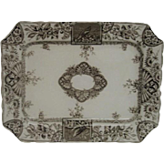 Brown Transferware Aesthetic Alexandria Pattern Platter