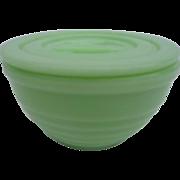 Vintage Jade Ite Grease Jar or Drippings Jar with Original Lid