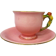 Royal Winton Pink Rosebud Cup and Saucer