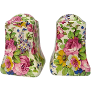 Vintage Royal Winton Summertime Chintz Salt and Pepper Shakers