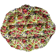 Vintage Royal Winton Summertime Chintz Divided Dish
