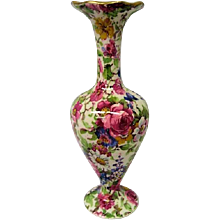 Vintage Royal Winton Summertime Chintz Footed Vase