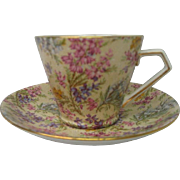 Vintage Lord Nelson Heather Chintz Cup and Saucer