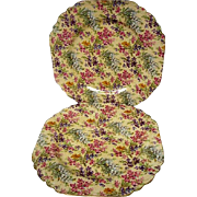 Two Vintage Lord Nelson Heather Chintz Luncheon Plates