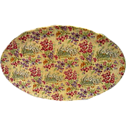 Vintage Lord Nelson Heather Chintz Oval Platter