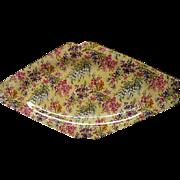 Vintage Lord Nelson Heather Chintz Diamond Shaped Platter