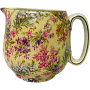 Vintage Lord Nelson Heather Chintz Milk Jug or Pitcher