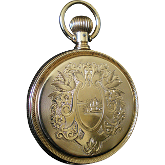 Great Elgin 14k Solid Gold  Pocket Watch Keeping Time